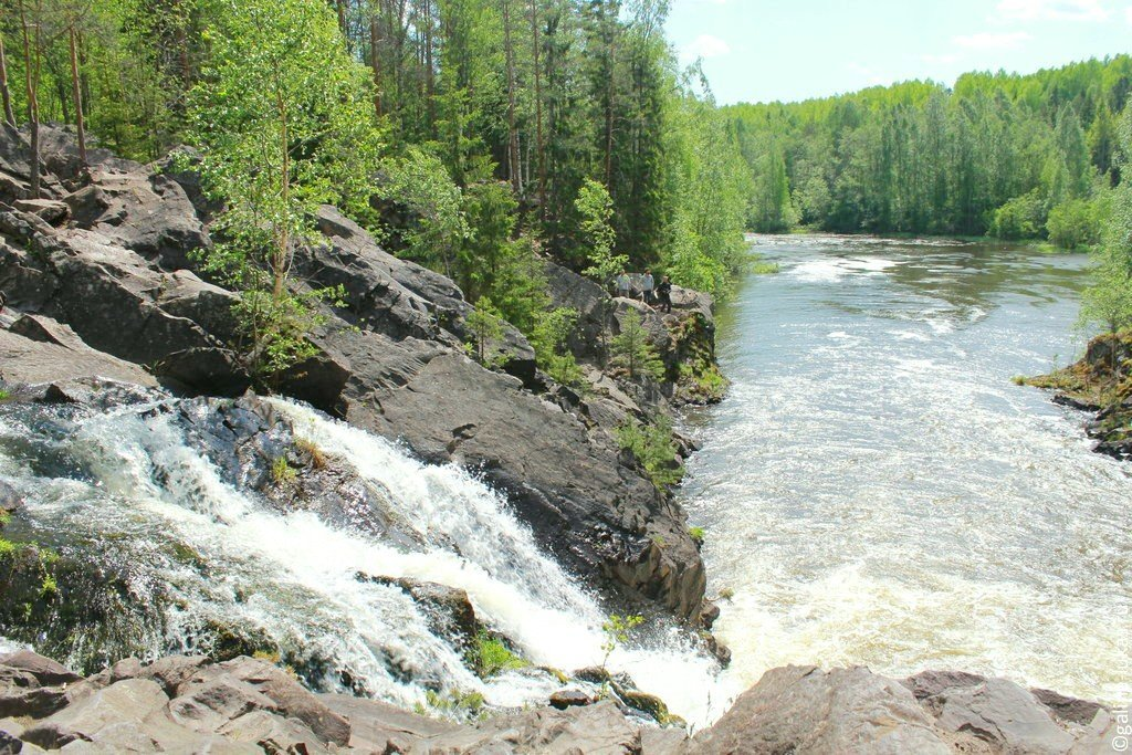 Водопад Кивач - второй (по